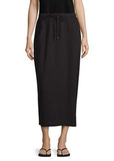 Eileen Fisher Drawstring Cotton Gauze Midi Skirt