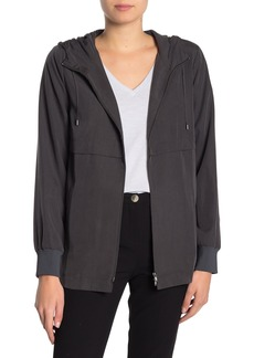 Eileen Fisher Drawstring Hooded Woven Jacket