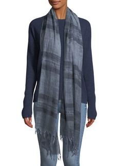 Eileen Fisher Dreamy Stripe Wool Scarf