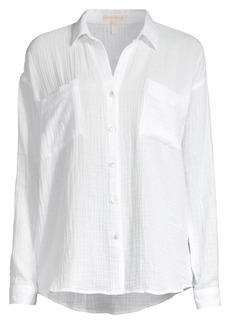 Eileen Fisher Easy-Fit Organic Cotton Gauze Shirt