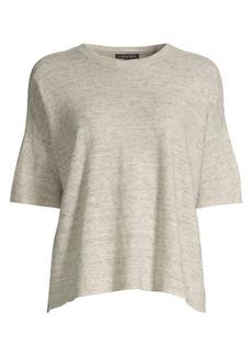 Eileen Fisher Easy-Fit Organic Linen Melange Top