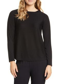Eileen Fisher A-Line Long Sleeve Top