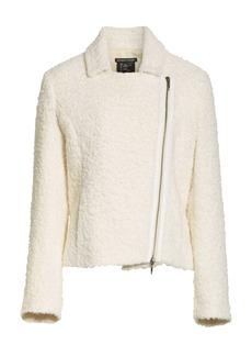 Eileen Fisher Alpaca Wool Blend Bouclé Moto Jacket