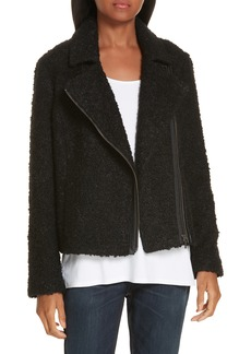 Eileen Fisher Alpaca Wool Blend Bouclé Moto Jacket