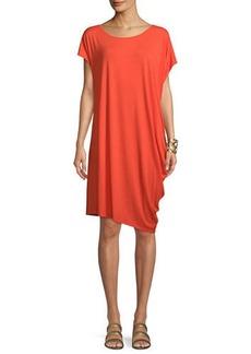 Eileen Fisher Asymmetric Lightweight Jersey Dress