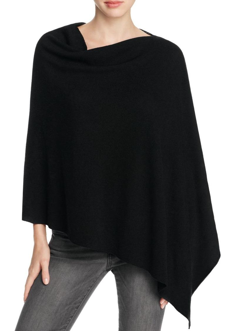Eileen Fisher Asymmetric Merino Wool Poncho