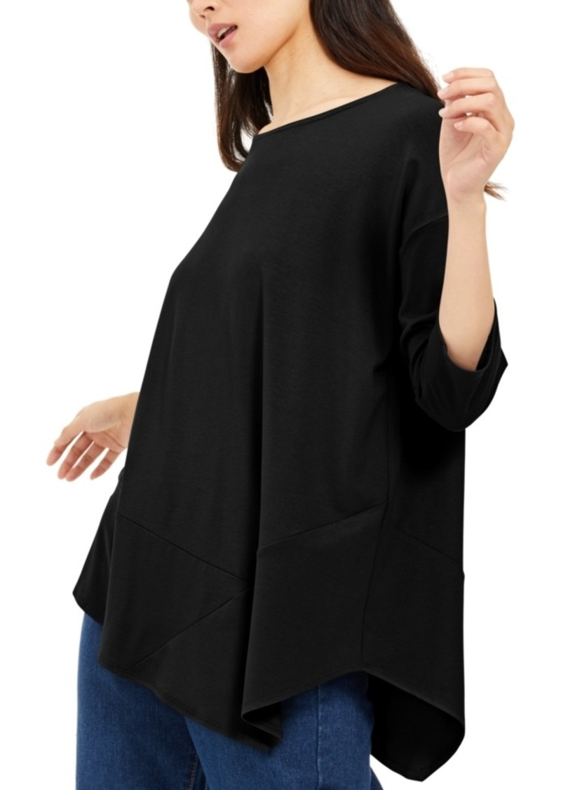 Eileen Fisher Asymmetrical-Hem Tunic, Created For Macy's