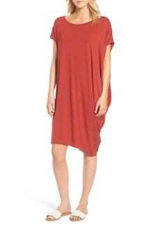 Eileen Fisher Asymmetrical Jersey Shift Dress (Regular & Petite)