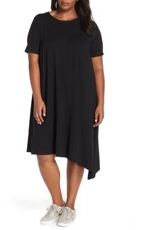 Eileen Fisher Asymmetrical Shift Dress (Plus Size)