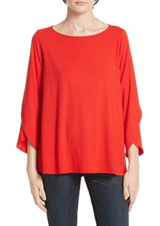 Eileen Fisher Asymmetrical Sleeve Top