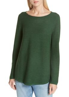 Eileen Fisher Ballet Neck Fine Gauge Merino Tunic Sweater