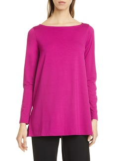 Eileen Fisher Ballet Neck Long Sleeve Tunic