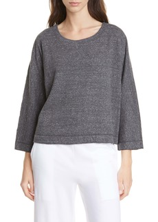 Eileen Fisher Ballet Neck Organic Cotton Top