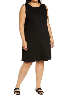 Eileen Fisher Ballet Neck Ribbed Tank Dress (Plus Size)