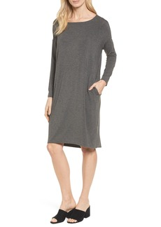 Eileen Fisher Ballet Neck Shift Dress (Regular & Petite)