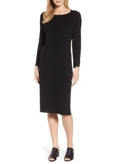 Eileen Fisher Bateau Neck Knit Dress