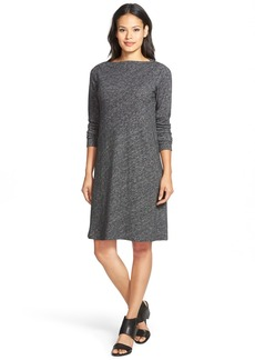 Eileen Fisher Bateau Neck Knit Shift Dress (Regular & Petite)