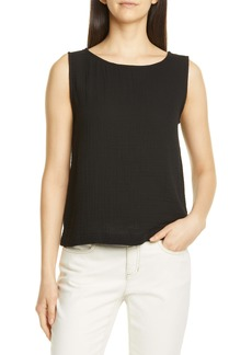 Eileen Fisher Bateau Neck Organic Cotton Tank
