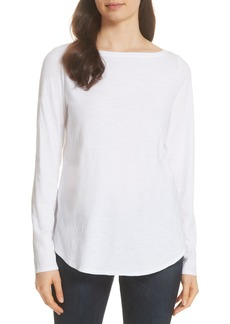 Eileen Fisher Bateau Neck Organic Cotton Tee