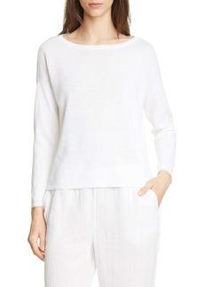 Eileen Fisher Bateau Neck Organic Linen & Cotton Sweater (Regular & Petite)