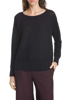 Eileen Fisher Bateau Neck Organic Linen Blend Sweater