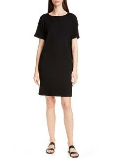 Eileen Fisher Bateau Neck Rib T-Shirt Dress