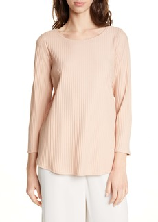 Eileen Fisher Bateau Neck Rib Top