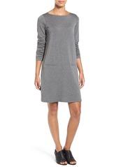 Eileen Fisher Bateau Neck Shift Dress (Regular & Petite)