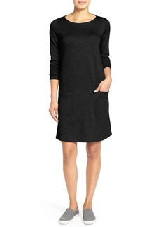 Eileen Fisher Bateau Neck Shift Dress (Regular & Petite)