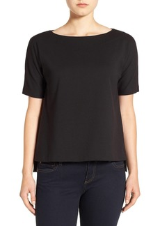 Eileen Fisher Bateau Neck Stretch Ponte Top