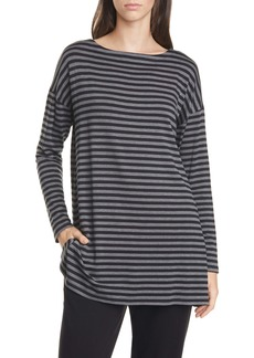 Eileen Fisher Bateau Neck Stripe Top (Regular & Petite)
