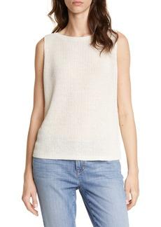 Eileen Fisher Bateau Neck Sweater Shell