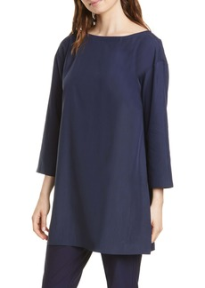 Eileen Fisher Bateau Neck Tencel® Lyocell Blend Tunic
