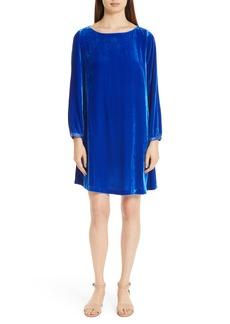 Eileen Fisher Bateau Velvet Shift Dress (Regular & Petite)