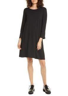 Eileen Fisher Bell Cuff Tencel® Lyocell Blend Jersey Dress (Regular & Petite)