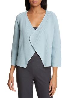Eileen Fisher Bell Sleeve Organic Cotton Blend Cardigan (Regular & Petite)