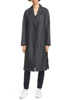 Eileen Fisher Belted Cotton Blend Trench Coat