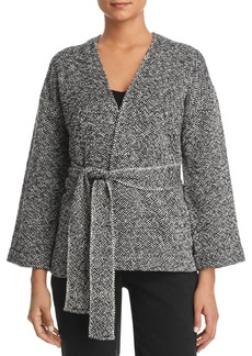 Eileen Fisher Belted Organic-Cotton Jacket
