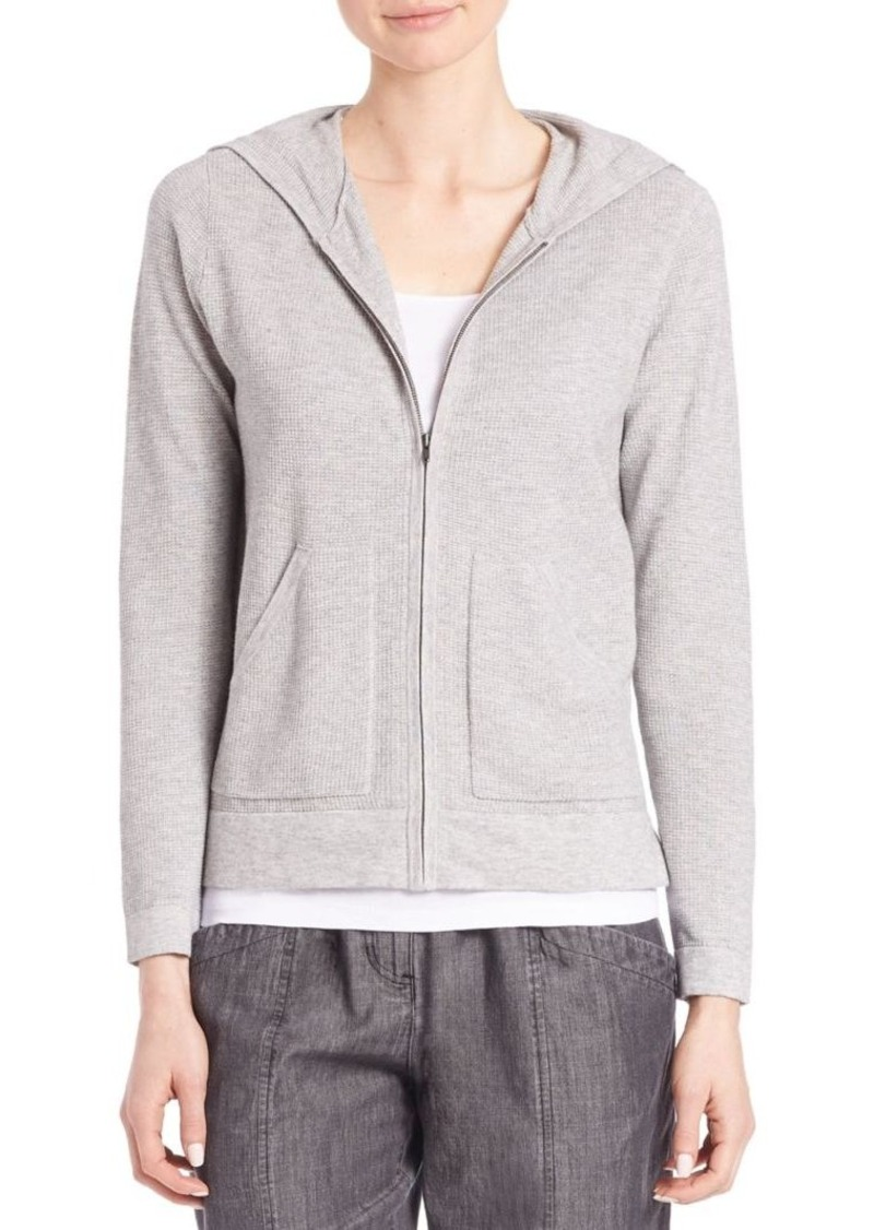 Eileen Fisher Blended Cotton Hoodie