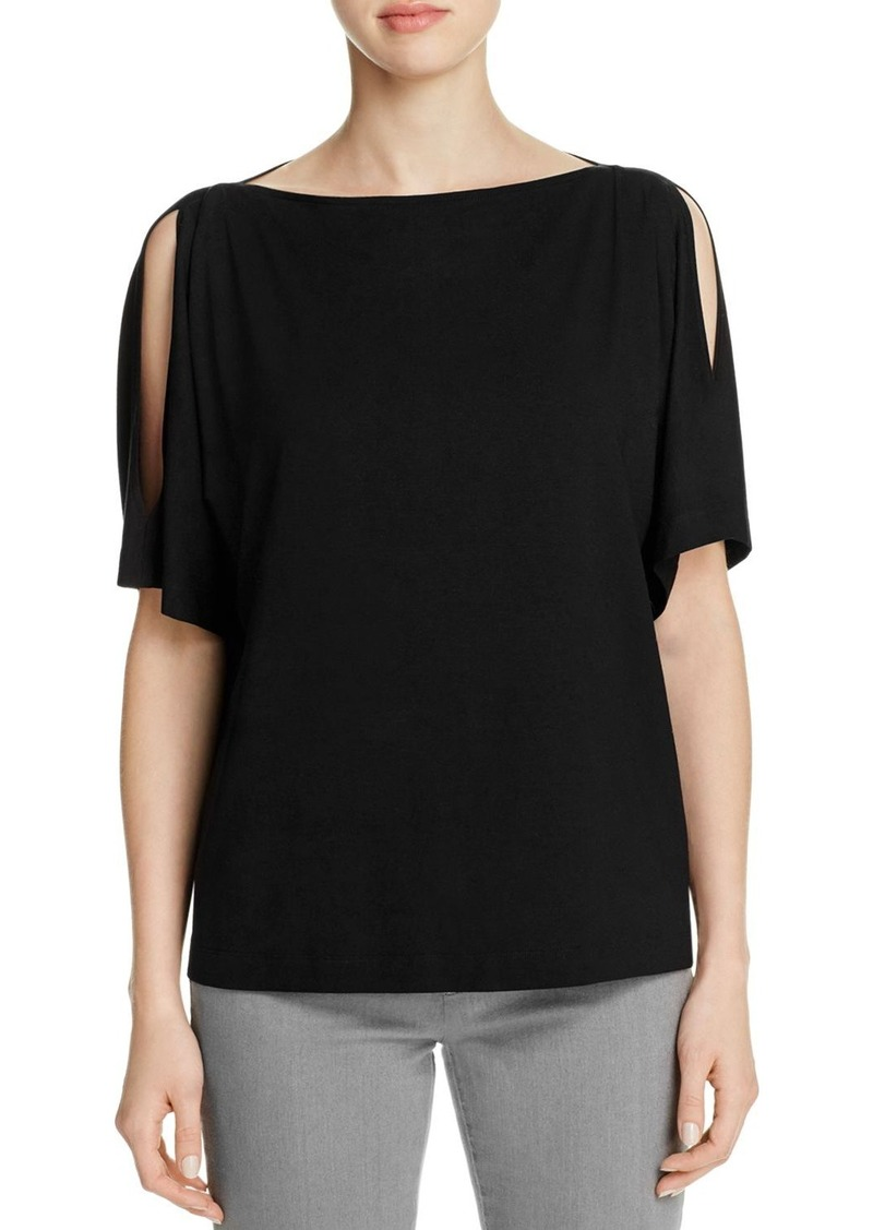 481dc38c1060d Eileen Fisher Eileen Fisher Boat Neck Cold Shoulder Kimono Top - 100 ...