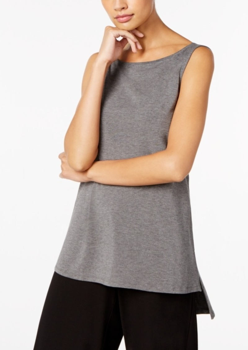ab96c80c1662b Eileen Fisher Eileen Fisher Tencel Jersey Boat-Neck High-Low Tunic ...