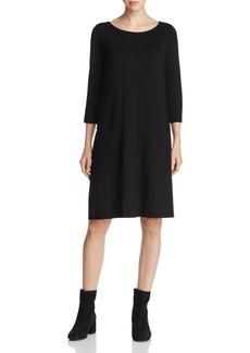 Eileen Fisher Boat Neck Knit Dress