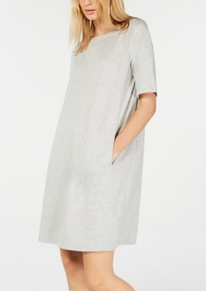 Eileen Fisher Boat-Neck Pocket Dress