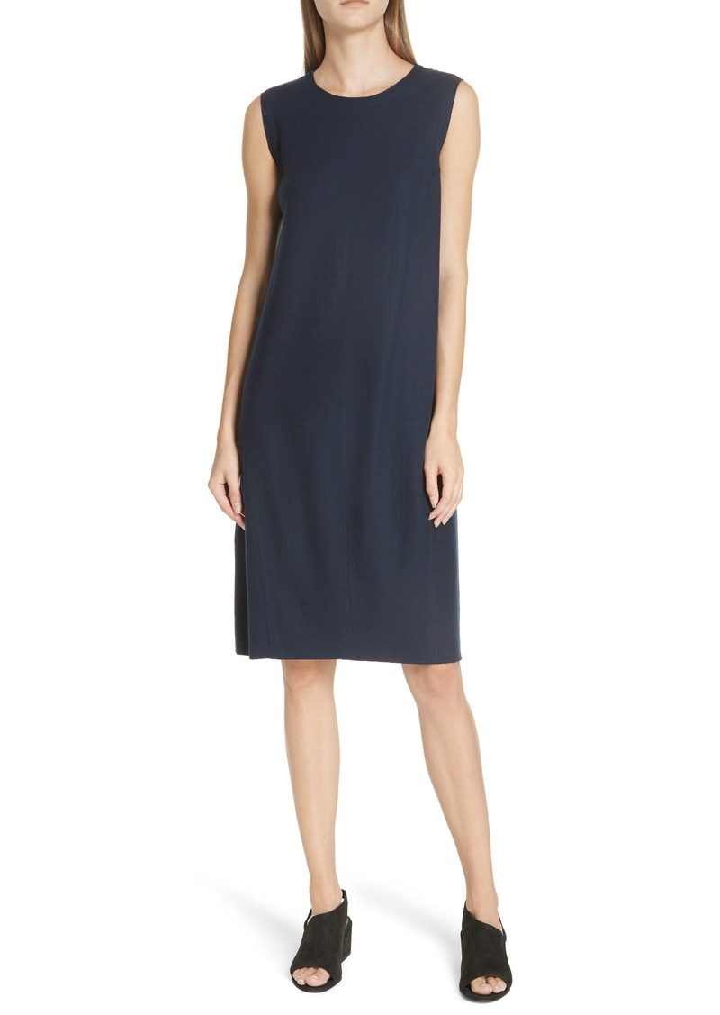 9246b0d86e8bf Eileen Fisher Eileen Fisher Boiled Wool Jersey Crewneck Shift Dress