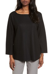 Eileen Fisher Boiled Wool Jersey Top