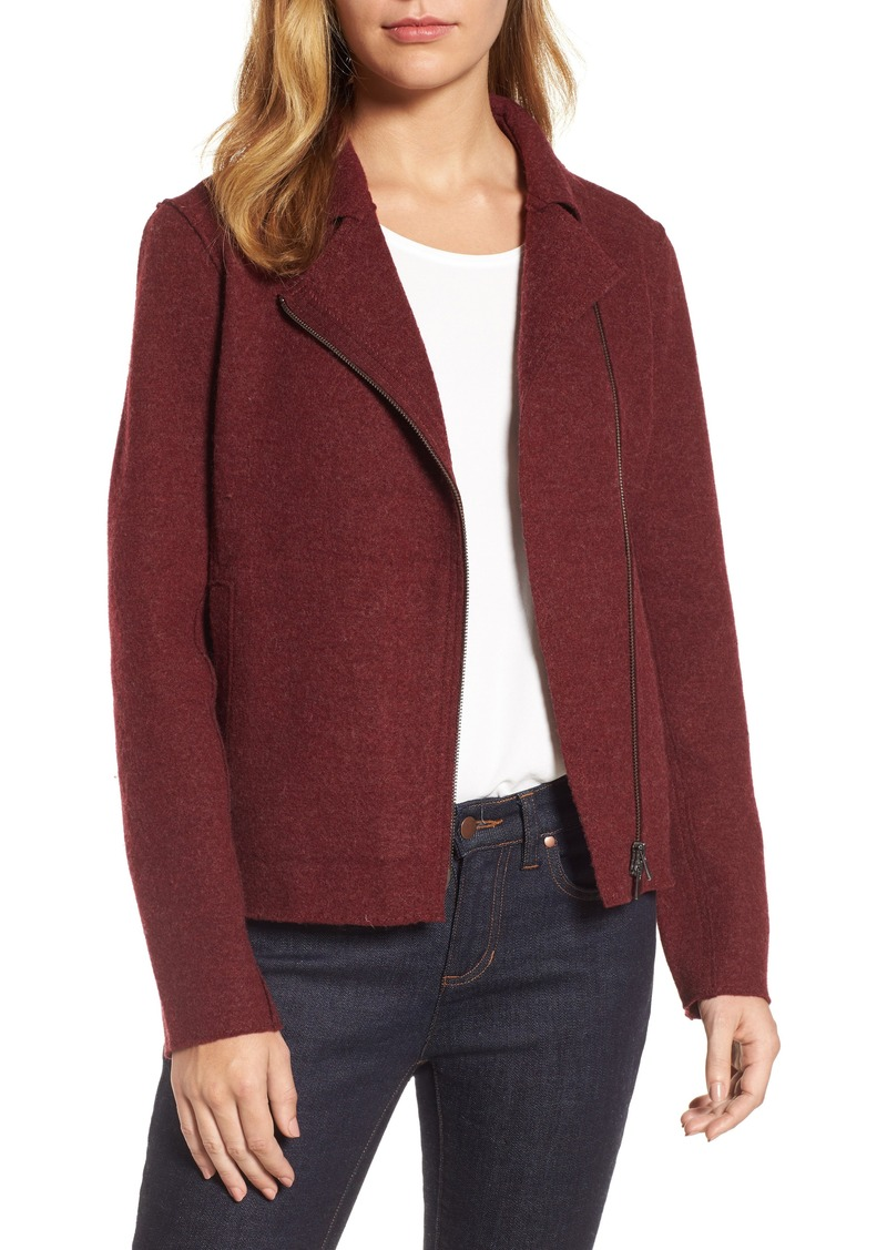 Eileen Fisher Eileen Fisher Boiled Wool Moto Jacket