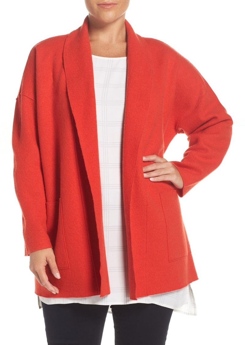 042fbb89d01e6 Eileen Fisher Eileen Fisher Boiled Wool Shawl Collar Coat (Plus Size ...
