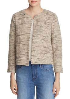 Eileen Fisher Boxy & Open Textured-Knit Jacket