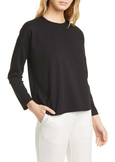 Eileen Fisher Boxy Crewneck Top (Regular & Petite)