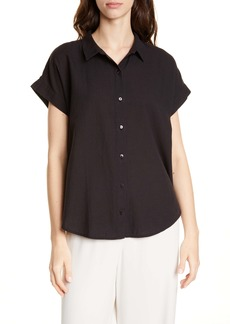 Eileen Fisher Boxy Organic Cotton Blend Shirt